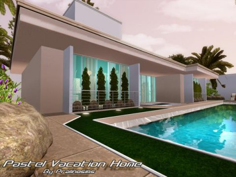 Pastel Vacation Home от Pralinesims