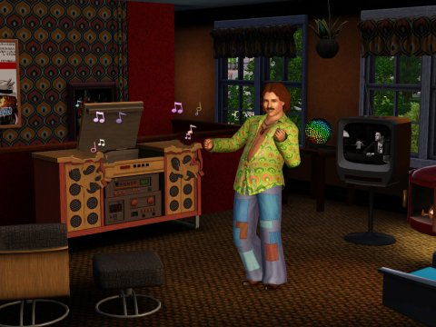 The Sims 3 Стильные 70-е, 80-е, 90-е.