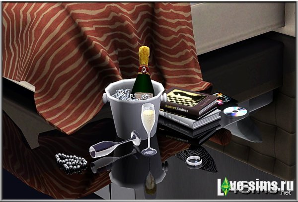 Champagne set including bottle
