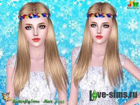 Hairstyle 105 by by ButterflySims