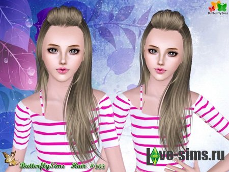Hairstyle 103 by ButterflySims