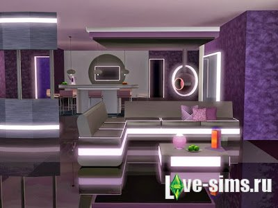 Futuristic Dream Living & Dining Set by JomSims