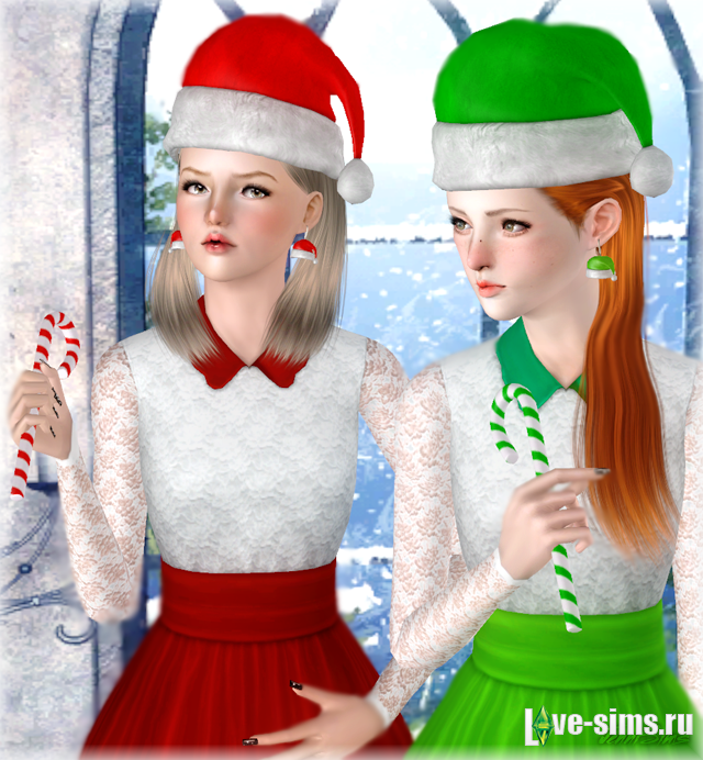 Шапка Santa Earrings