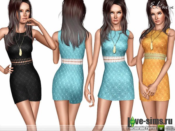 Cut Out Waist Lace Dress by ekinege
