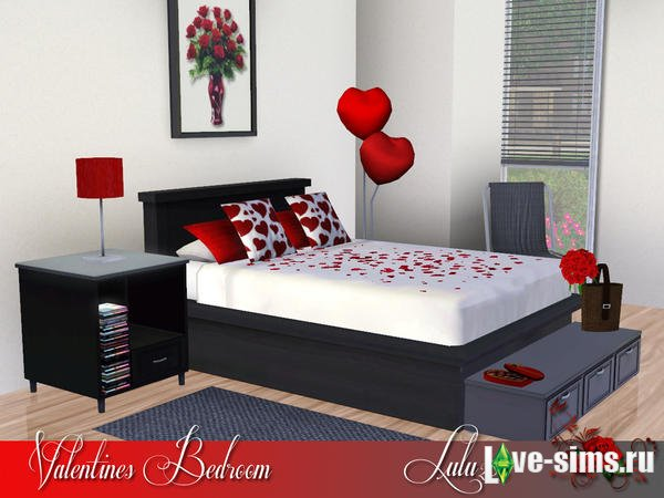 Спальня Valentines Bedroom от Lulu265