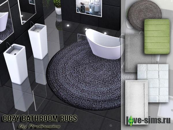 Cozy Bathroom Rugs от Pralinesims