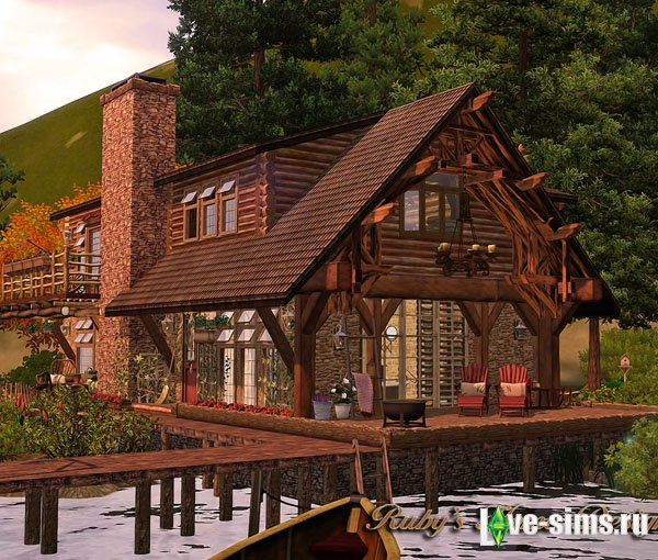 Lakeside Cabin by Ruby
