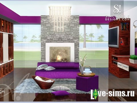 Elbach Living Set by Simcredible