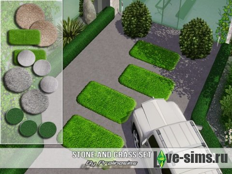 Stone and Grass Set от Pralinesims