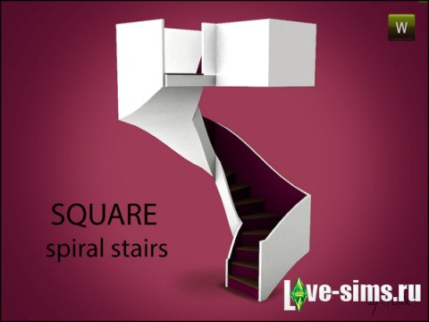 Square Spiral Stairs от Gosik