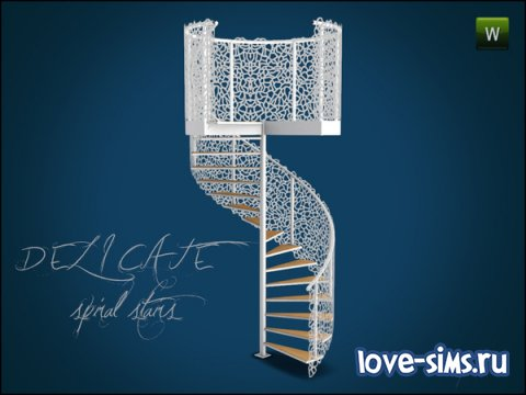 Delicate Spiral Stairs от Gosik