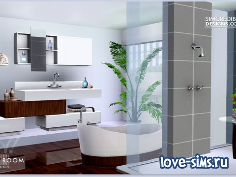 Liquid Room Bathroom Set by SIMcredible Designs