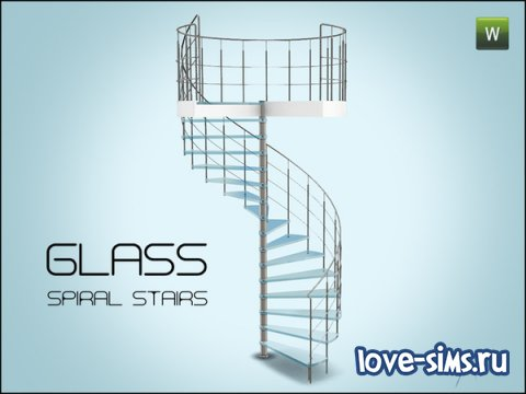 Glass spiral stairs от Gosik