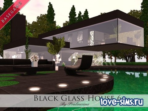 Black Glass House sims 3