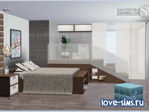 Спальня Cassis bedroom sims 3