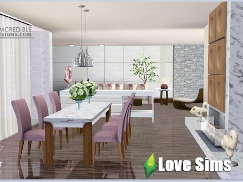 Velvet diningroom by SIMcredible