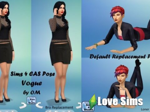 Sims 4 Vogue Poses by orangemittens