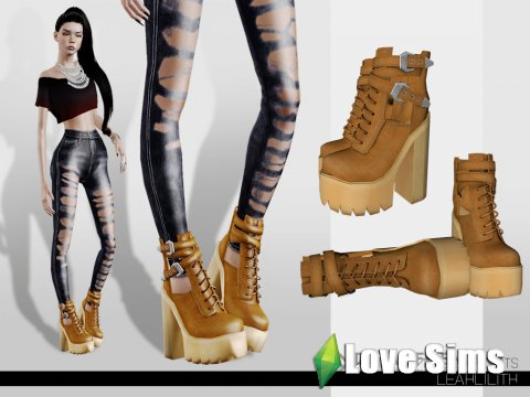 Abner Platform Boots by LeahLillith