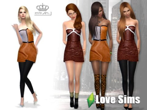 Leather outfits-leggings by EsyraM