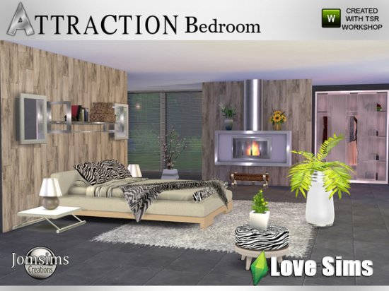 Attraction Bedroom от jomsims