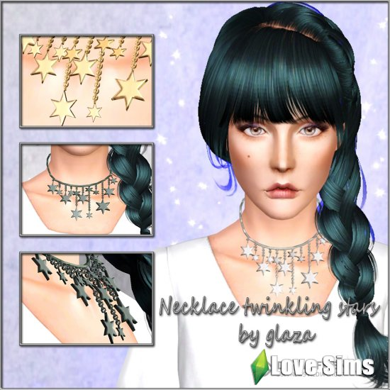 Necklace twinkling stars