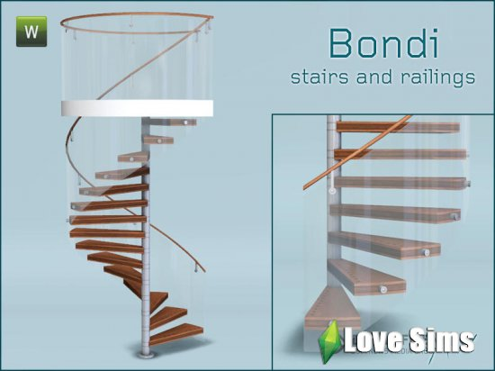 Bondi spiral stairs and railings