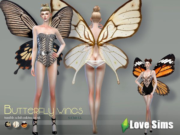 Крылья butterfly wings 02 от S-Club