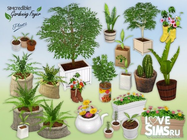 Растения Gardening Foyer от SIMcredible