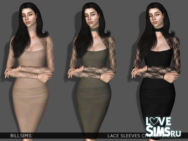 c2942f1d46d Платье Lace Sleeves Choker от Bill Sims