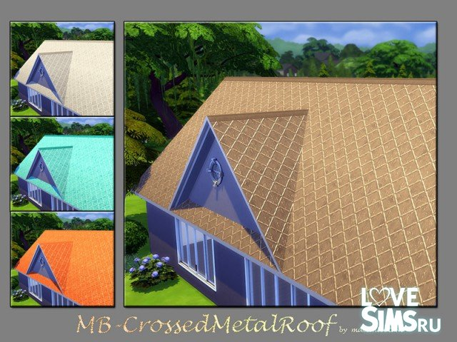 Крыша MB-Crossed Metal Roof от matomibotaki