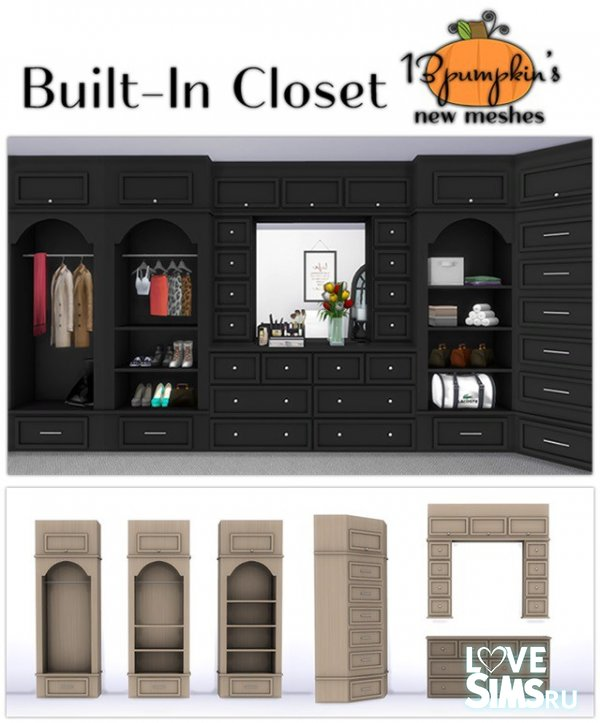 Шкаф Built-In Closet set от 13pumpkin