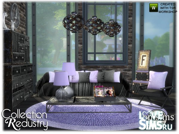 Мебель redustry living room от jomsims
