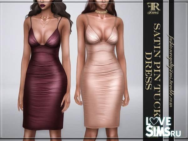 Платье Satin Pin Tuck от FashionRoyaltySims