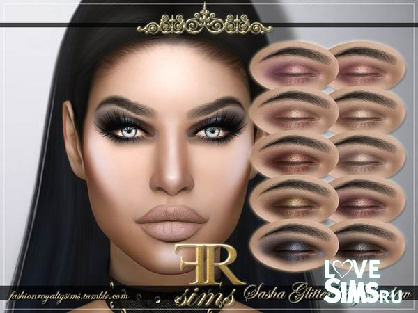 Тени FRS Sasha Glitter от FashionRoyaltySims