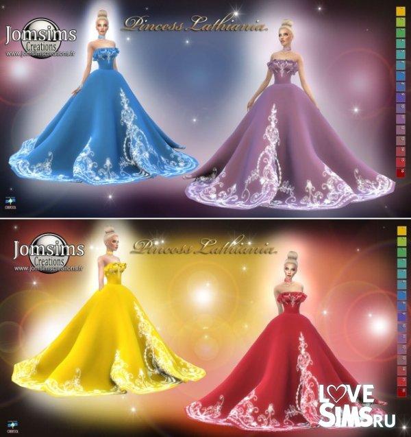 Платье princess lathiania от jomsims
