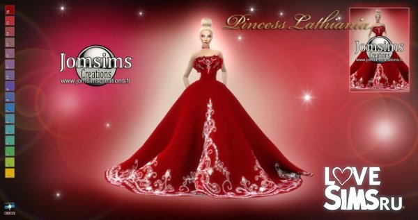 Платье princess lathiania от jomsims