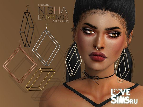 Серьги Nisha от Pralinesims