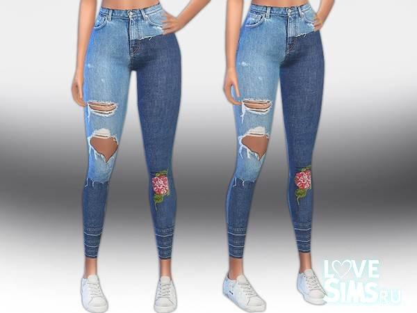 Джинсы Designer Patch Jeans