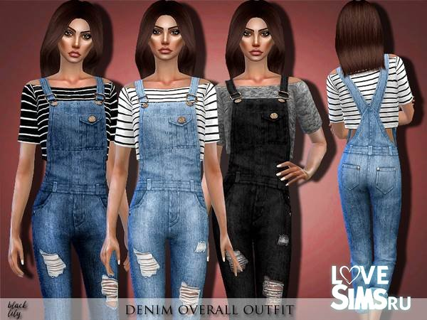 Комбинезон Denim Overall Outfit