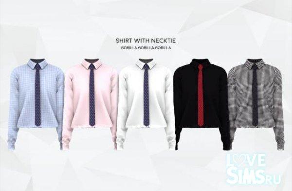 Рубашка с галстуком от Gorilla