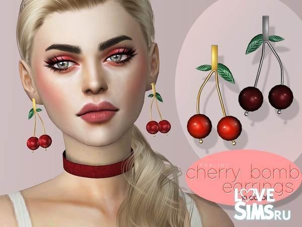 Серьги Cherry Bomb от Pralinesims