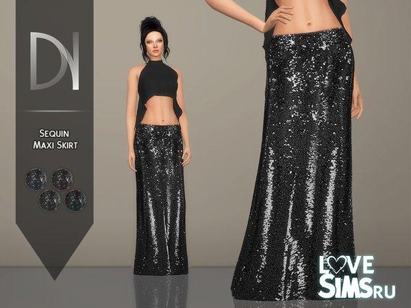 Юбка Sequin Maxi Skirt
