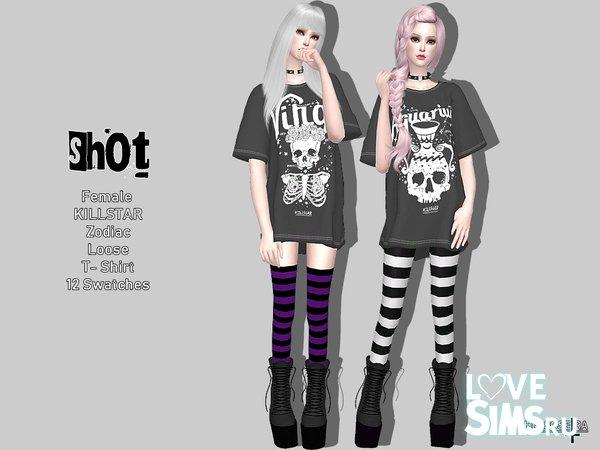 Футболка SHOT - Killstar Zodiac Loose Tee