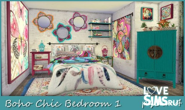 Спальня Boho Chic от pqSim4