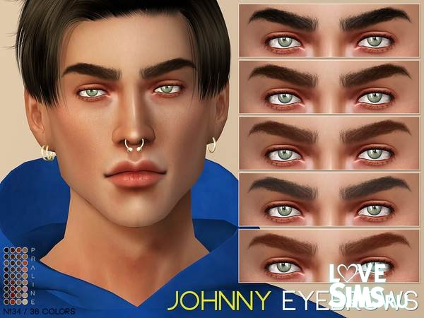 Брови Johnny N135 от Pralinesims
