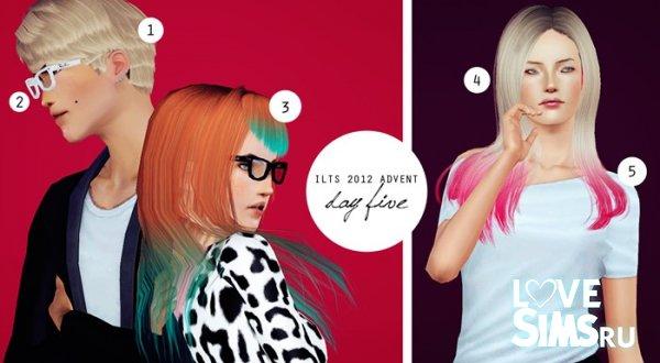 Три ретекстуры волос от I Like The Sims