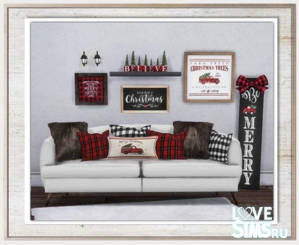 Декор Cozy Cabin Christmas Set