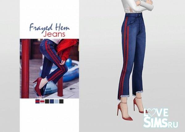 Джинсы Frayed Hem Jeans от Waekey