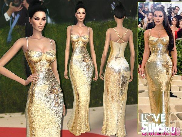 Платье Kim Kardashian от sims2fanbg
