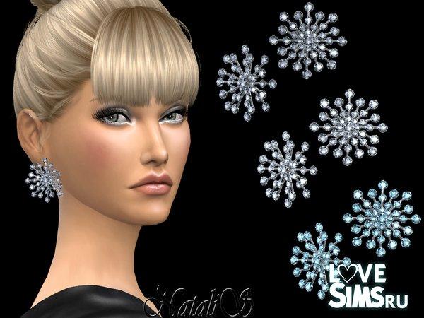 Серьги Crystals Snowflake от NataliS